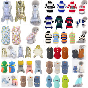 Puppy Pet Dog Clothes Hoodie Winter Warm Sweater Coat Costume Jumpsuit Apparel