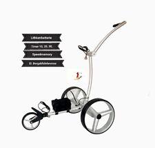 """Elektro golf trolley con batería de litio """"Drive brake"""" plateados de aluminio"""