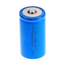 1 Pcs D Size 1.2 V 10000mAh NI-MH Rechargeable Battery Blue