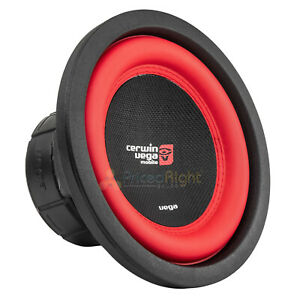 """8"""" Dual 4 Ohm Subwoofer 500 Watts Car Audio Sub DVC Cerwin Vega V84DV2 Single"""