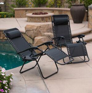 Neo 2X Zero Gravity Recliner Outdoor Chair Reclining Garden Sun Lounger Portable