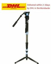 SIRUI P-424SR + VH10 Carbon Fiber Monopod Tripod Professional Camera Head