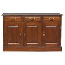 Tasimania  solid Mahogany Timber  3 door 3 drawer buffet sideboard