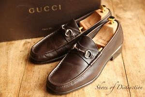 Gucci Brown Leather Horse Bit Shoes Loafers Men's UK 9.5 EU 43.5 US 10.5