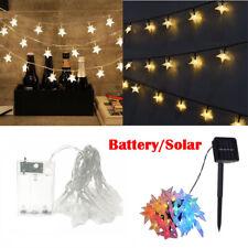 Batería de cadena de Luces de Hadas Navidad Boda Fiesta solar jardín al aire libre de Decoración