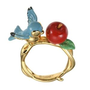 Disney Official Ring Snow White and the Seven Dwarfs Bird Apple from JP NEW