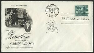 #1037 4 1/2c The Hermitage, Art Craft-Addressed FDC ANY 5=