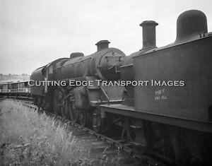 6 x 6 Railway Negative: Withdrawn Standard 4MT 75069 Barry Scrapyard   30/282a12