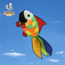 "32"" Rainbow Fish Kite Windsock Cute Durable Ripstop Nylon Fabric Kite Festival"