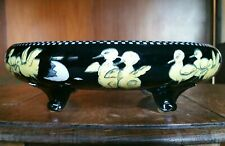 More details for vintage pre 1920s chippendale solian ware soho pottery floating fruit bowl 30cm