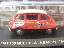 Fiat Multipla Abarth   1:43 scale model  with plinth and cover