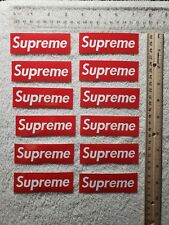 Supreme Vinyl Decal Sticker Lot (12pc, RED) skateboard music graphics hip hop