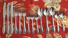 14 Pieces-Vintage Hoffritz Stainless 18/0 Flatware