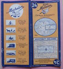 § carte MICHELIN 24 ANDERMATT - BOLZANO 1948