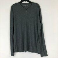John Varvatos Star USA Henley Snap Front Shirt XL