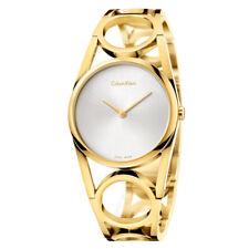 Calvin Klein Women's Round Yellow Gold Swiss Quartz Watch - K5U2M546