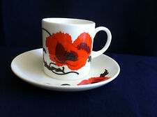 Wedgwood Susie Cooper Cornpoppy large coffee can & saucer (scratches on saucer )