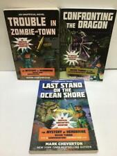 Lot of Mark Cheverton minecraft adventure Mystery of Herobrine 1 3  3 books