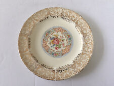 """Stetson China STT4 Gold Filigree, Floral, Blue Lines - 6"""" BREAD PLATE"""