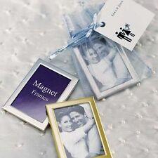 3 x Bilderrahmen Magnet silber Gastgeschenk Tischkarte Platzkarte Hochzeit Taufe