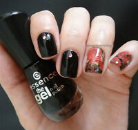 Rose Flower Theme Nail Art Water Decals Transfer Stickers Manicure Wraps XF1411