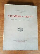 Jan Vermeer De Delft Book Of Etchings By Gustave Vanzype Pub. 1925 #386 76 Pgs