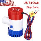 1100 GPH 12V Marine Boat Bilge Water Pump Submersible for Yacht RV SPA Pool US photo