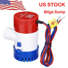 1100 GPH 12V Marine Boat Bilge Water Pump Submersible for Yacht RV SPA Pool US