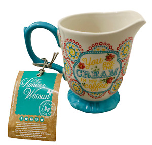 """NWT PIONEER WOMAN """"You Are The Cream In My Coffee"""" Hyacinth Footed Creamer"""