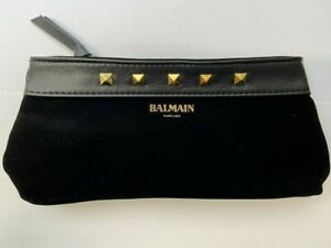 Genuine Pierre Balmain Makeup Bag Vintage Style Designer Mini Clutch Pouch