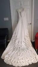 EUC Oleg Cassini wedding dress womens 14 beaded heavily ABSOLUTELY GORGEOUS ! -
