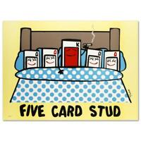 """Todd Goldman! """"Five Card Stud"""" Ltd Ed Lithograph, Numbered and Hand Signed"""
