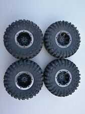 4PCS Wheel Rim & Tires Remo Hobby 1:10 Rock Crawler RC Truck 12mm Hub P7978