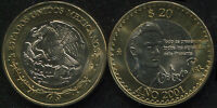 Mexico 20 Pesos. 2001 (Bi-Metallic. Coin KM#638. Unc) Octavio Paz