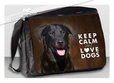 ! BEAUCERON ! College-Tasche . KEEP CALM & LOVE DOGS