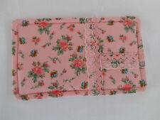 Handmade hot drink coaster, mug mat, mug rug.  Roses print fabric. Ideal gift