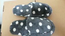Soft & Comfortable Women household Slippers Dark Grey/ Dots Size  7/8.5  V14-15