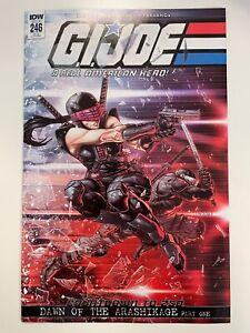 IDW G.I. JOE : A REAL AMERICAN HERO #246 RI-B COVER : HTF! : NM CONDITION