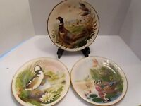 3 Danbury Mint Scene From Wooded Glen Pheasant, Duck Birds Polseno Gorham Plate