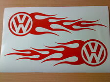 red flames tribal x2 vinyl car sticker side graphics decal golf polo rally