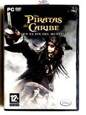 Piratas Caribe Fin Del Mundo PC Retro Videojuego Videogame Mint Condition SPA