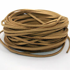 New 5yd Coffee 3mm Suede Leather String Thread Cord Jewelry Making Bracelet DIY