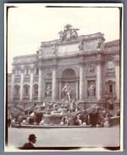 Italie, Rome, Fontaine de Trevi  Vintage citrate print. Roma Tirage citrate