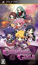Used Criminal Girls (PlayStation Portable PSP, 2010) Japan Import Free Shipping