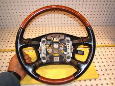 Lexus ES300 1997-01 wood Black leather Steering Genuine 1 Wheel Only,NO Air bag