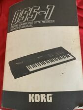 used musical instruments gear Korg Dss-1 Owners Manuel