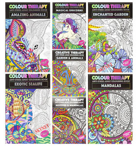 NEW EDITION A4 ANTI-STRESS ADULT COLOURING BOOK BOOKS Colour Therapy FOR ADULTS