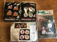 Cross Stitch Kits Titan Kappie Christmas Ornaments Creative Circle Lot of 4