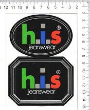 H.I.S jeanswear Vintage Sticker Decal