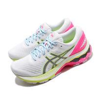 Asics Gel-Kayano 27 Lite-Show White Pink Yellow Women Running Shoes 1012A761-100